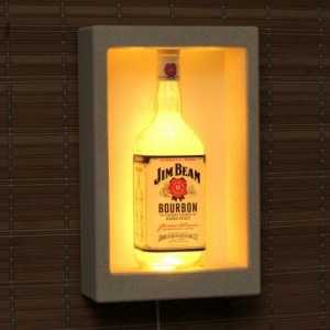Jim Beam Kentucky Whiskey Color Changing Remote Controlled Wall Mount Sconce Liquor Bottle Lamp Bar Light  LED  Man Cave Decor Shadowbox