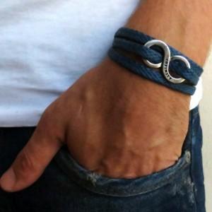 Men's Bracelet - Men's Infinity Bracelet - Men's Jewelry - Men's Gift - Husband Gift - Boyfriend Gift - Present For Men - Gift For Dad