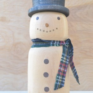 Hand Turned Snowman