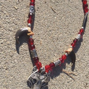 Real wolf claw necklace celtic style Ulfhednar warrior style