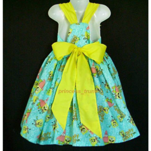 NEW Handmade Nickelodeon Spongebob Patrick Okey Dokey Sun Dress Custom Sz 12M-3Yrs