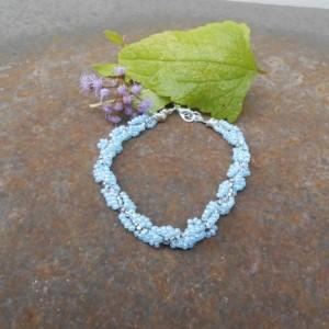 Baby Blue Seed Bead Bracelet
