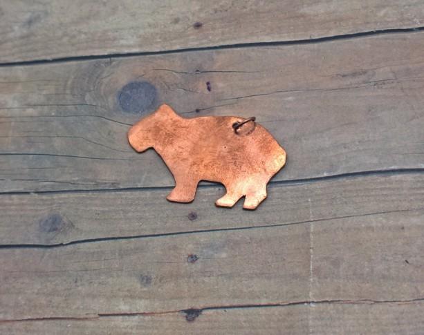 Copper Capybara Pendant