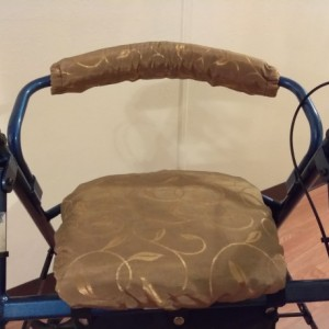 Walker seat cover and handle bar cover