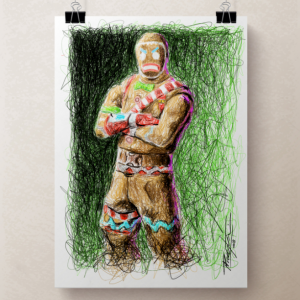 Fortnite's GingerBread Man Print by Pablo Piacentini