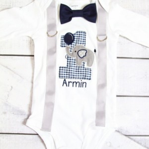 Boy first birthday Navy Elephant birthday baby boy cake smash Zoo one year outfit birthday outfit Elephant birthday shirt family shirts