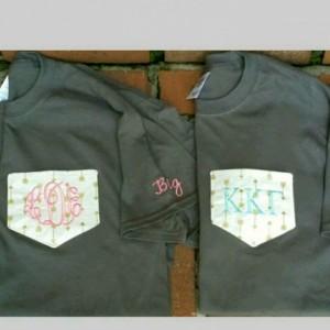 Monogrammed Pocket Tshirts