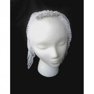 Lover's Knot Wedding MiniVeil in White