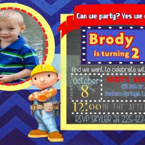 Bob the Builder Birthday Invitation