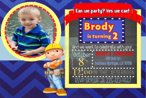 Bob the Builder Birthday Invitation
