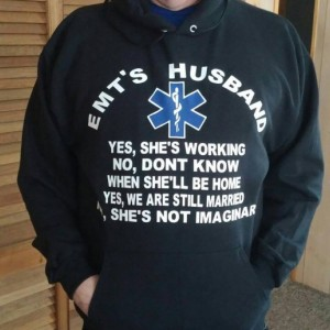 Ems gift-EMT Gift- EMT Husband-Hooded Sweatshirt-Husband Gift-Gift for Him-EMS Humour-Funny Shirt For Him-Ambulance-Emt Husband-Gift-custom