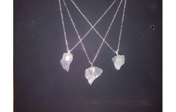 """18"""" Chain Sea glass White in color"""