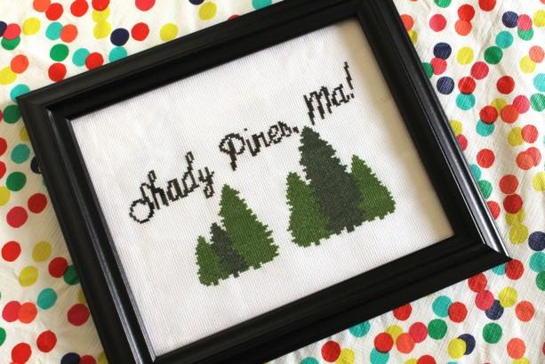 Golden Girls Shady Pines Cross Stitch Frame Piece