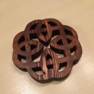 Rustic Celtic knot trivet, Wooden Trivet, Potholder, Wooden hot mat