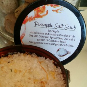 Pineapple Salt Scrub