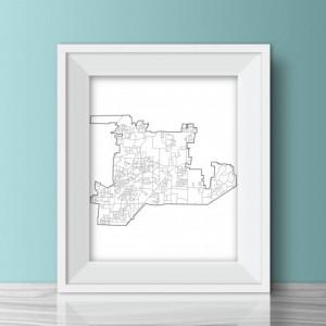 Bartlett, Tennessee Print - 8x10