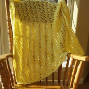 Yellow Shell Baby Blanket