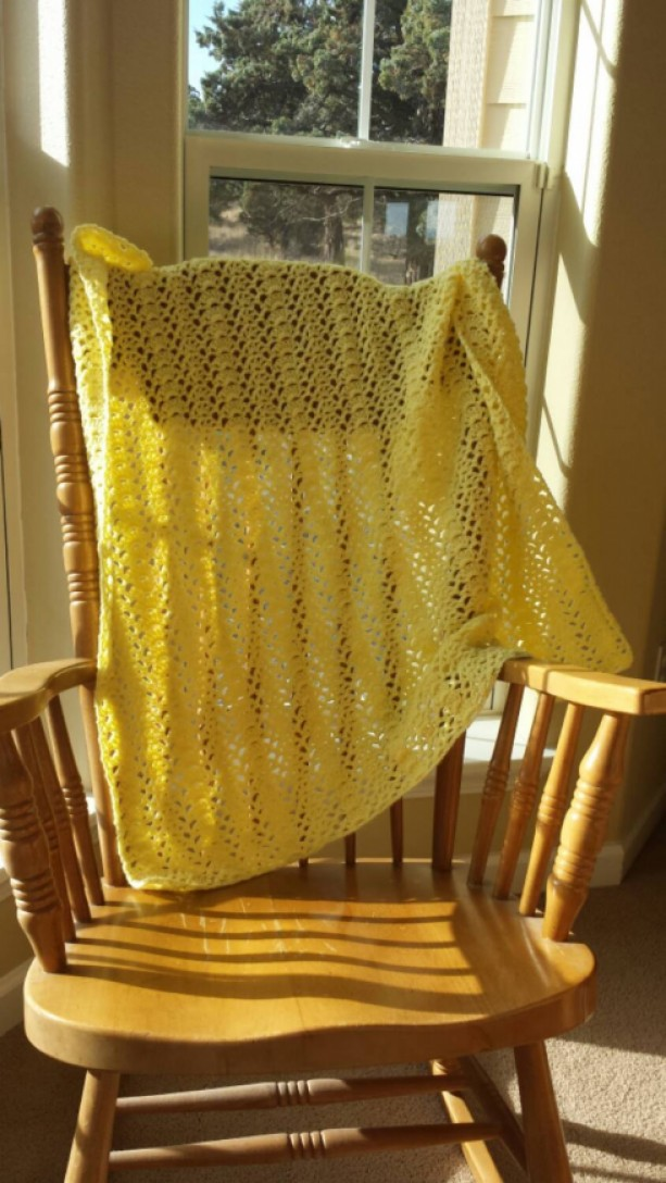 Yellow Shell Baby Blanket