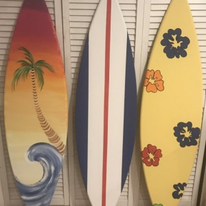 4ft wood surf surfboard beach pool wall art sign