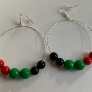 Rasta Jamaica africa hoop earrings