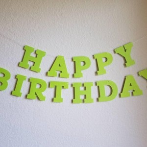 Lime Green Birthday Banner