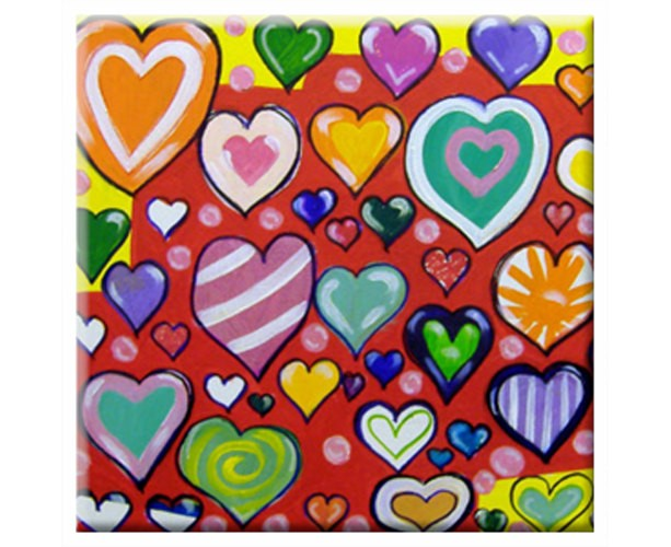 TILE - HEARTS - Signed By Artist A.V.Apostle