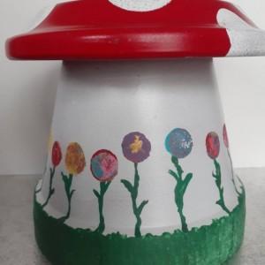 Gnome Garden Toadstool/Gnome House Toadstool/Terracotta Mushroom/Garden Decor/Gnome/Toadstool/Mushroom/Garden