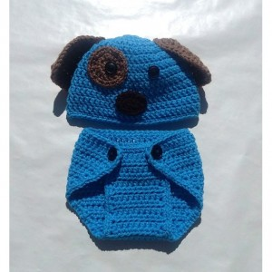 hat and diaper cover,crochet handmade,puppy hat,gifts for babies,baby shower gift,photo prop baby,photography props,little boy gifts,items