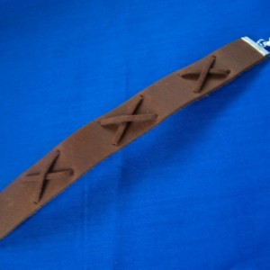 Mens Bracelet Wristband Brown Leather