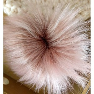 Cream and Rose Pompom Hat