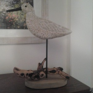 Hand Carved and Painted Wooden Bird - Willet