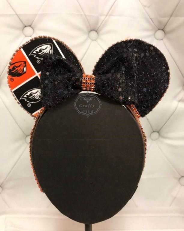 Oregon State Beavers Minnie/Mickey Mouse Headband