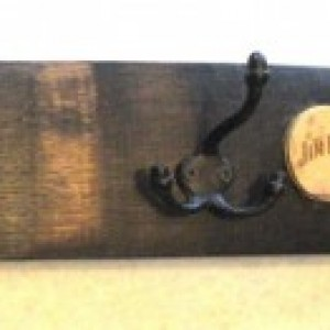 Kentucky Bourbon Barrel Stave Hook Rack. Includes shipping.