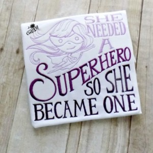 Girls Superhero Shirt,She Needed a Superhero so She became one, Girls Clothing, Girls Superhero clothing, Tshirt, Embroidered, Purple Ombre