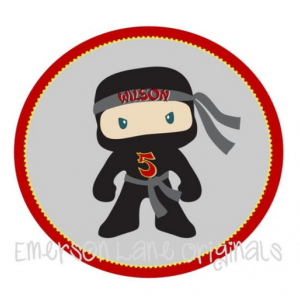 Ninja Birthday Iron On For Shirts - Ninja Birthday Party - Ninja Party Favors - Karate Birthday Party - Taekwondo Birthday Party - Ninja DIY