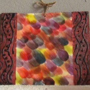 Falling - Abstract Encaustic Wax Art