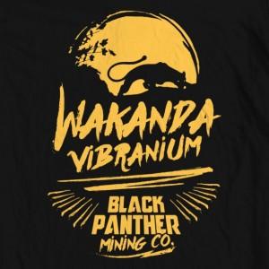 Men's Black Panther Vibranium Mining Tee