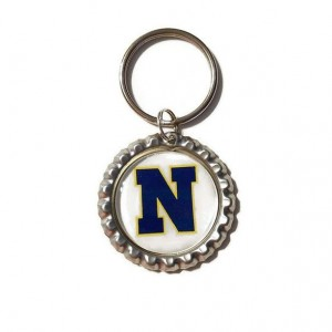 Navy Bottle Cap Keychain, MIlitary Key Chain, Military Gift