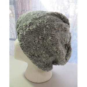 Beanie Hat Hand Knitted with Cotton and Silk - QUARTZ MOUNTAIN by Kat