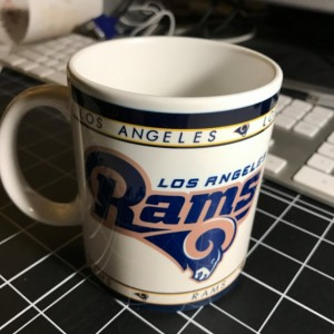 Custom Made Los Angeles Rams 11oz Coffee Mug