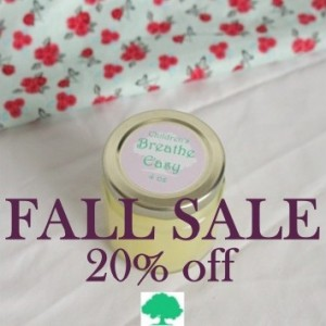 FALL SALE - Children's Breathe Easy Balm