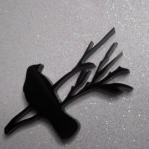ravens,laser cut,bird charms,black birds,nature charms