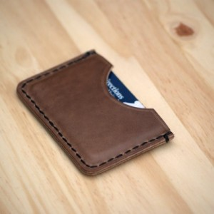 Leather Card Wallet, Chromexcel Leather Card Sleeve, Horween Leather Slim Wallet, Minimalistic Leather Wallet, Men's Woman's Leather Wallet
