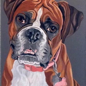 "Carley - Custom Dog Portrait - 11"" x 14"""
