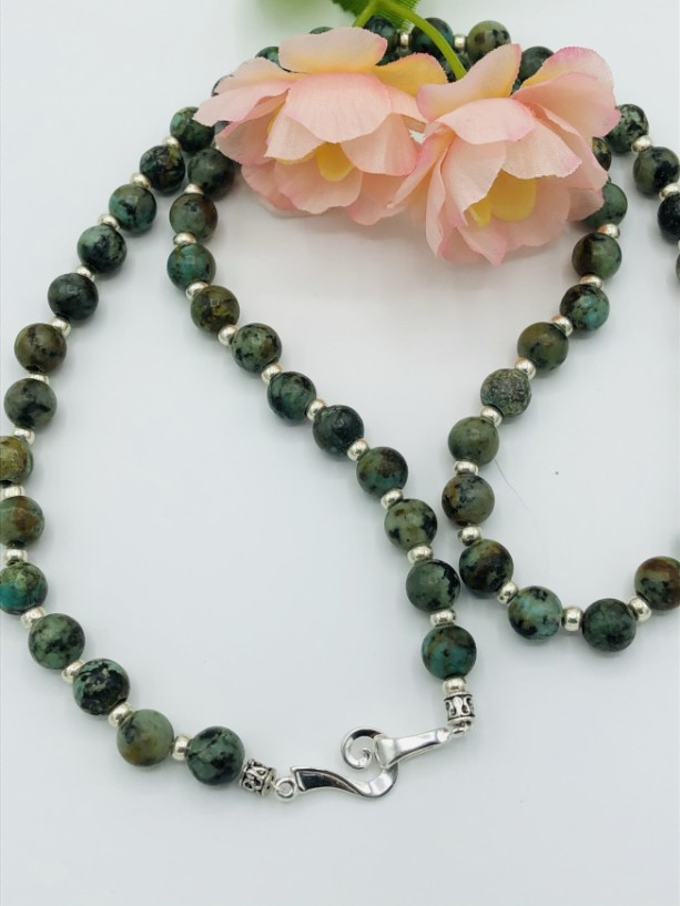 """26"""" African Turquoise Necklace"""