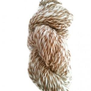 Handspun yarn- art yarn- alpaca yarn- Alpaca and Wool- 1 skein 120yds- knitting- knit- knitting supplies- crochet- felting- wool- alpaca