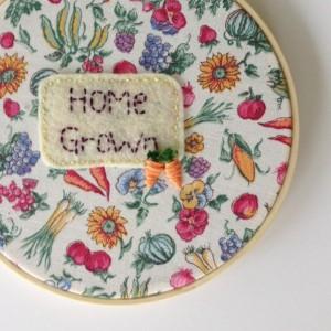 Veggie Embroidery Hoop Art 5inch Embroidery Hoop Garden Hoop Art Under 25 Gift Hostess Gift Gardener Gift Summer Veggie Art Garden Lover Art