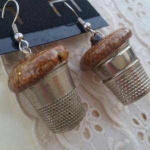 Acorn Thimble Earrings