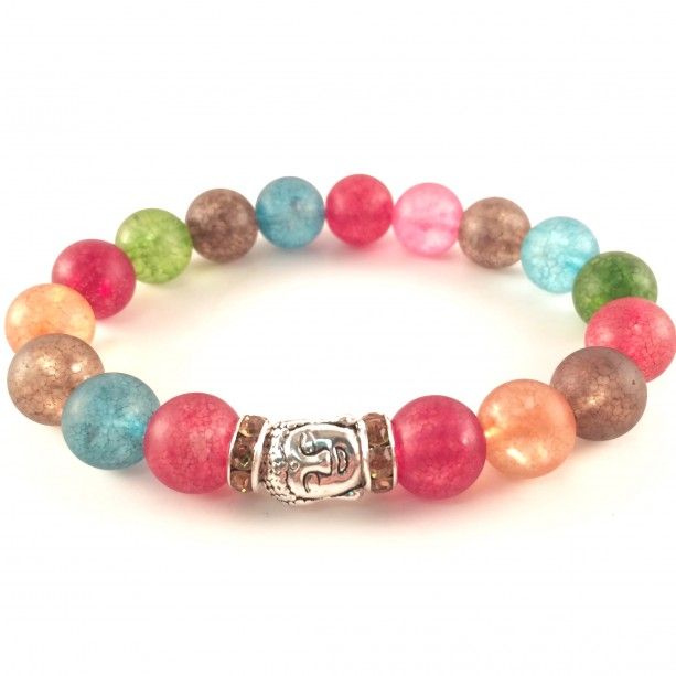 Rainbow buddha bracelet