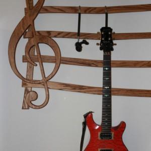 Multiple Guitar Hanger, Wall mount
